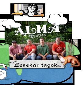 Alma Zenekar tagok 2018